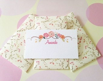 Personalized Gift Enclosure Cards, Mini Cards, Gift Cards, Set of 10