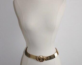 Fleur de Lis Gold Fishscale Belt