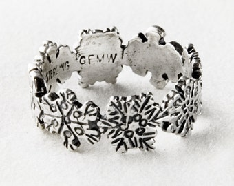 Snowflakes Sterling Silver Ring