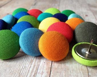 Thumbtacks,20 Push Pins,Pushpins,Thumbtacks,Thumb Tacks,Green,Blue,Orange,Red,Teacher Gift,Office Decor,Cubicle,Coworker Gift,Rainbow,Office