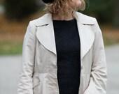 Felted hat black felt beret merino wool original warm woman winter accessory ready to send Great gift idea
