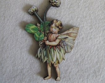 Clover Fairy Needle Minder with double magnet by cheswickcompany