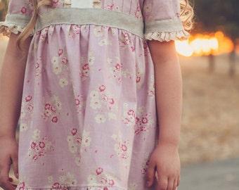 Sweet Lilly Pintuck Dress & Tunic, flower girl dress, girls dress pdf, PDF Sewing Pattern, girls pattern, dress pattern pdf, sewing pattern