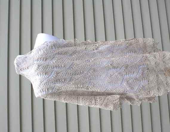 Estonian Lace with Nupps Knitted Shawl Maikell Shawl Ships