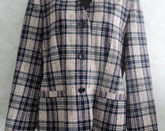 Pendleton Women's Jacket Blazer 100% Virgin Wool Classic Vintage Size 10 USA