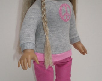 PINK CORDUROY SKINNY Jeans 18 inch doll clothes