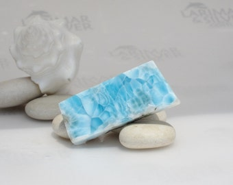 Cabbing Larimar slab, cobalt blue Larimar stone, cabbing larimar, azure, turtleback, dolphin stone, turquoise blue, natural larimar  92.0 ct