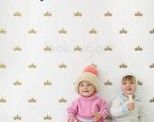 Crown Decals . Modern Baby Nursery Decal . Removable Crown Wall Decal . Prince / Princess Nursery Decal - AP0040NF