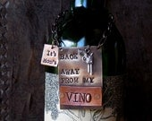 Back Away From My Vino™ Bottle Tag. Original Design by Sycamore Hill. Girls Night Out. Wine Lover Gift. Custom Wine Label. For Her. Hostess.