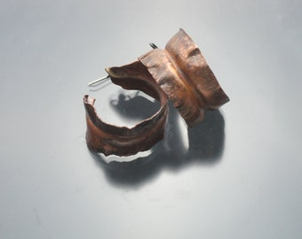 Copper Fold-formed Hoop Earrings