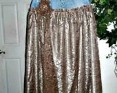Vintage French lace jean skirt exquisite taupe mocha metallic shiny boho bohemian fairy  ballroom Renaissance Denim Couture Made to Order