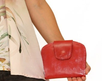Red leather wallet, red leather purse, red cash wallet, leather women wallet, women leather wallet, small wallet, unique wallet, wallet case