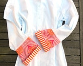 Bell Sleeve Shirt with Orange Pink Tulips, LB19