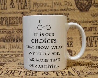 Choices White Ceramic Mug - Inspired by Harry Potter and the Chamber of Secrets