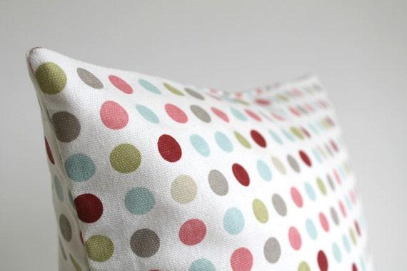 Polka Dot Pillow Cover, Spot Pillow Cover, 16 Inch Throw Pillow, 16x16 Pillow Sham, Cushion Cover, Pillow Covers, Accent Pillows - Cosy Spot