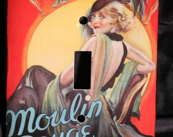 Moulin Rouge French Classic Movie Musical Resin Switchplate Light Cover