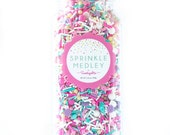 Jumbo Bottle (16 oz) Pastel Dreams Sprinkle Medley, Pastel Sprinkles, Star Sprinkles, Pastel Candy, Summer Sprinkles, Bulk Sprinkles