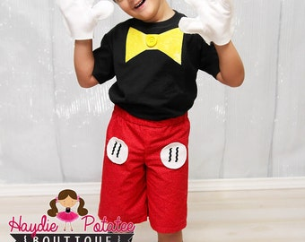 Boys Mickey Mouse Costume-mickey mouse outfit - mickey  Birthday -Baby Boys-mickey mouse 1st Birthday- disney Costume-Halloween- size 0-5t