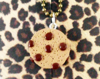 Chocolate Chip Cookie Ball Chain Necklace