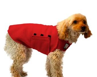 MINIATURE POODLE Tummy Warmer, Fleece Dog Sweater, Fleece Dog Coat, Dog Vest, Dog Jacket, Shirt for Dogs, Dog Clothing, Dog Clothes, Small