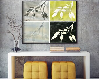 Giclee print, botanical study, archival reproduction of original monoprints