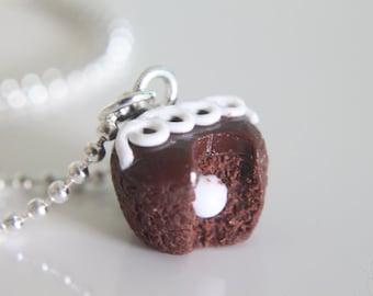 Food Jewelry - Cupcake Necklace - Chocolate - Hostess Cupcake - Nutella - Miniature Food - Food