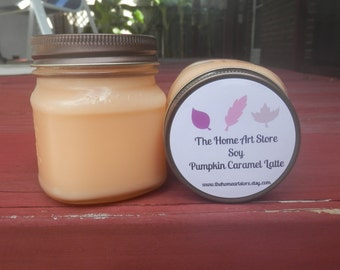 8 oz Soy Pumpkin Caramel Latte Container Candle