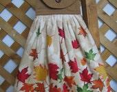 Autumn Leaf Kitchen Tea Towel LAST ONES FFFOFG Leaves Hanging Kitchen Dish Towel SnowNoseCrafts