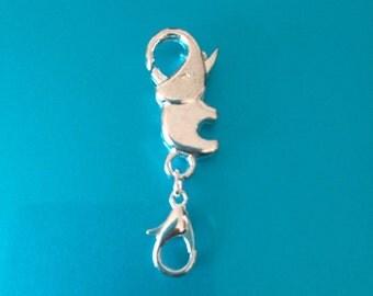 Elephant bracelet or necklace pendant or charm holder OR extender.