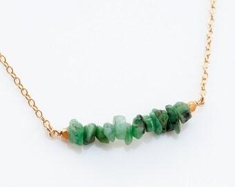 Gemstone Bar Necklaces