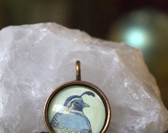 Quail necklace California Quail Pendant ~handmade jewelry unique quail gift for her~quail jewelry gift idea for her