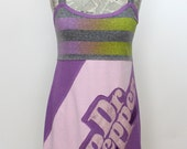 Dr. Pepper Upcycled Cotton Dress, size 4-6