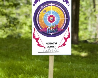 Nerf Rebel Girl Shooting Targets - Party Printable Decorations - INSTANT DOWNLOAD