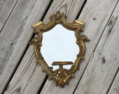 Mirror Gothic Gold Candle Holder