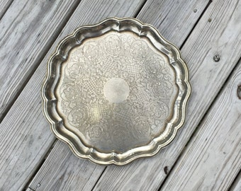 Silver Plate Tray Serving Tray