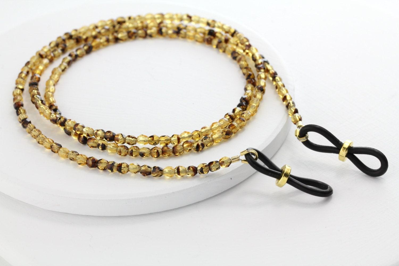 tortoise eyeglass chain eyeglass by maetri on etsy