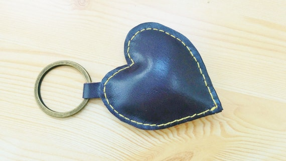 Leather keychain, leather keyring,heart keychain,heart keyring,purple heart keychain,purple heart keyring,purple heart leather,leather heart