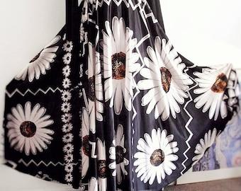 Vintage 80s Floral Maxi Dress