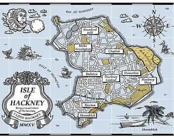 Isle of Hackney Map - Screenprint