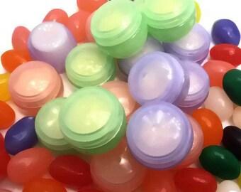 Set of 15 Lip Butter Balms  - Jelly Bean Lip Balm Jellies - Petroleum Alternative - Lip Balms & Glosses - Party Favors