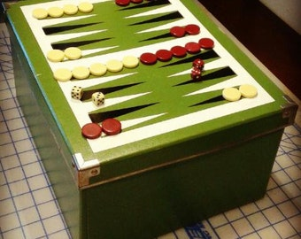 Backgammon / back gammon / board game / vinyl decal / table game / do it yourself / game night / family game