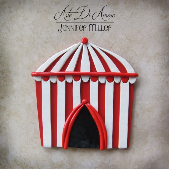 This listing is for a Circus Tent Cake Topper. It is made from a flat piece of wood decorated with polymer clay and acrylic paint. & Circus Birthday Party Cake Decorations   Birthday Wikii