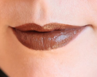 Natural liptint - Tinted lip balm - EARTH - Brown lipstick - Organic - Mineral lipstick - Lip colour