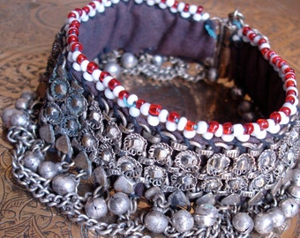 Kuchi bead lined bell anklet
