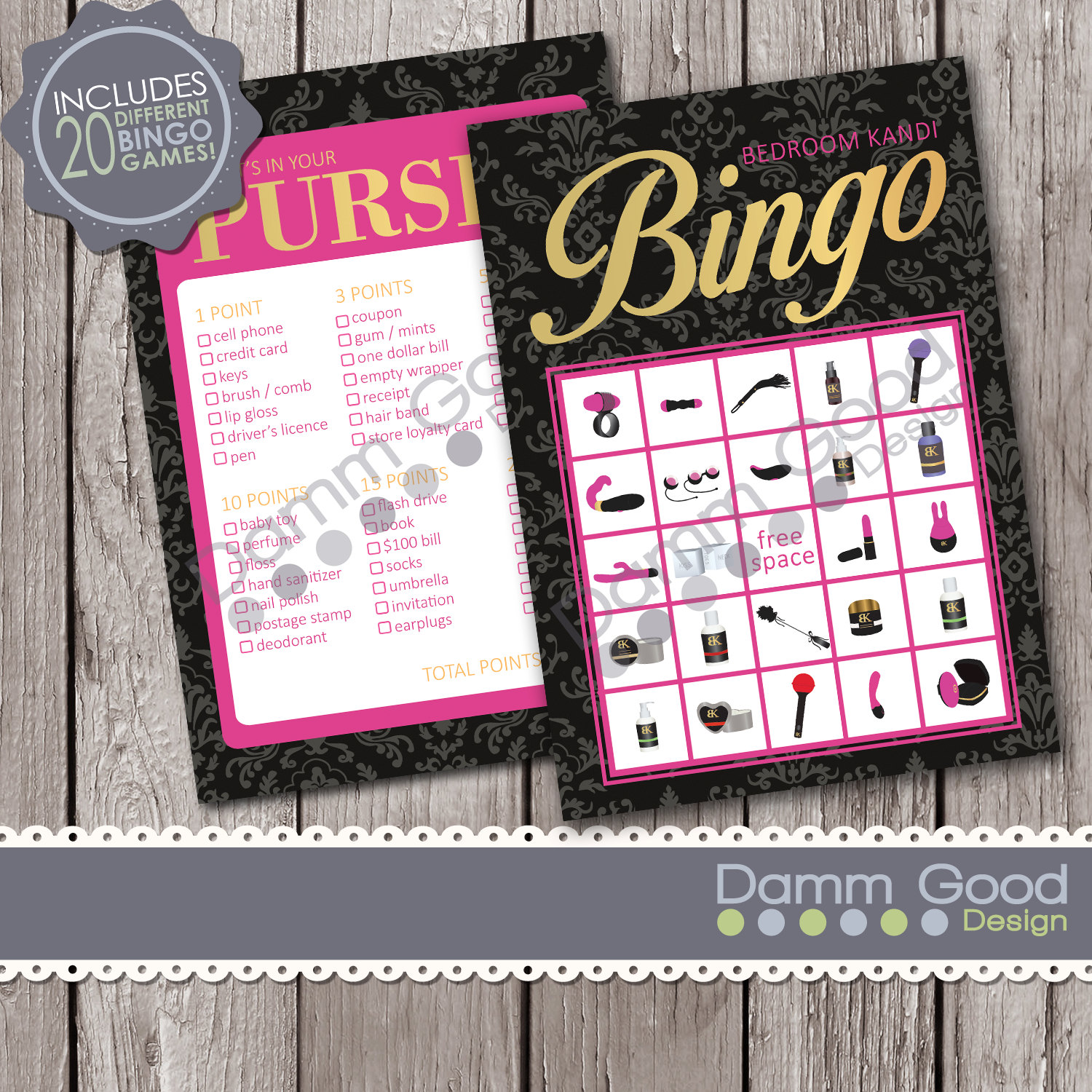 PARTY PRINTABLES Printable Party Games Bedroom By