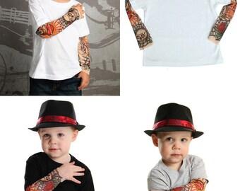 Baby Tattoo Sleeve - Fake Tattoo Sleeves - Baby Fake Tattoo - Fake Tattoos for Babies - Rockabilly Baby - Rockabilly Tattoo - Rose Tattoo