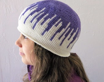 Crochet Pattern ~ All Ages Drip Drop Beanie ~ Crochet Pattern