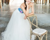Tulle Wedding Skirt, Bridal Tulle Ballgown, Removable Tulle Ballgown, Ballgown Skirt, flirty bridal tulle skirt, Swoon skirt, faldas de tul