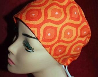 SALE....Bright Orange Cap (biker/chemo/surgical)