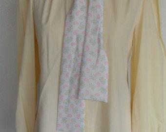 Vintage Judy Bond Blouse Size 12 Yellow Long Sleeve Secretary